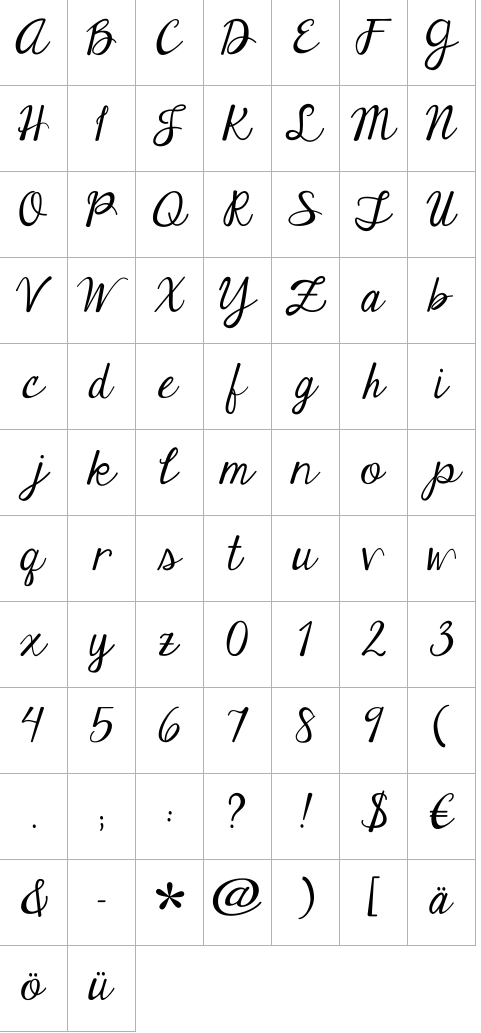 Janda Elegant Handwriting Regular